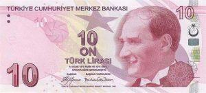 10 lir tureckich