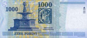 1000 forintów węgierskich (HUF) rewers