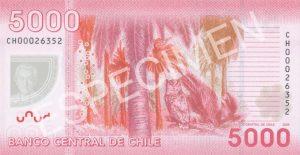 5000 peso chilijskich (rewers)